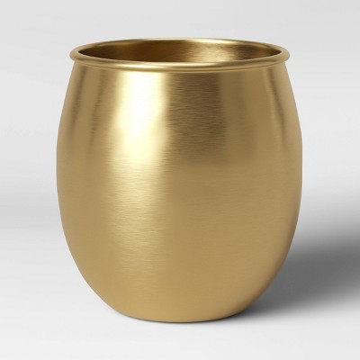 "6"" x 6"" Brass Planter Gold - Threshold™"