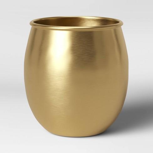 "6"" x 6"" Brass Planter Gold - Threshold™ - image 1 of 3"