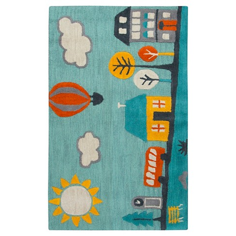 Blue Town Area Rug (3'x5') - Rizzy Home - image 1 of 3