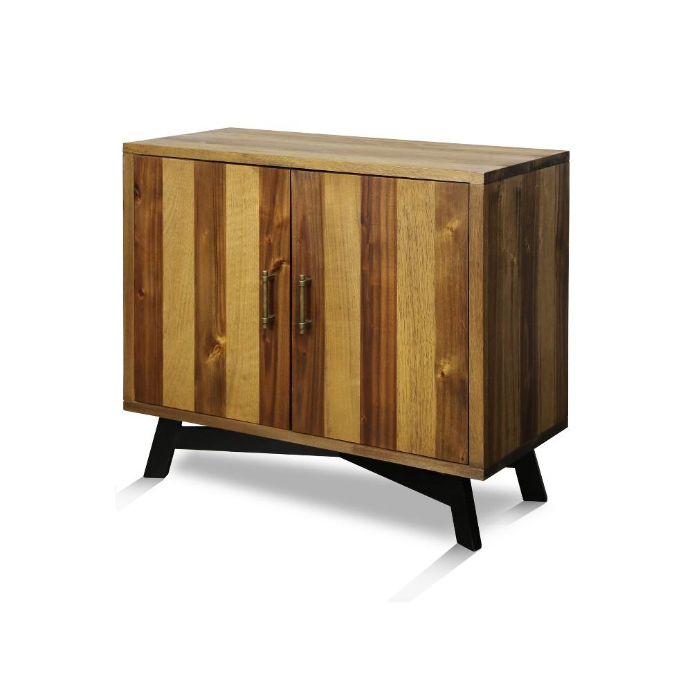 Solid Acacia Wood 2 Door Cabinet Brown - Stylecraft