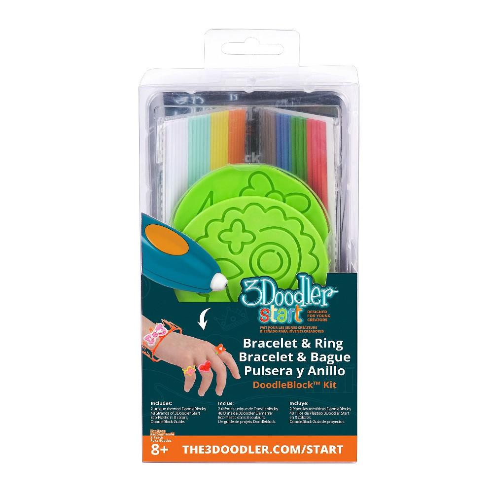 Image of 3Doodler 3D Printing Pen Jewelry Doodleblock Kit, Multi-Colored