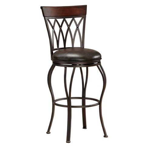 "Palermo Swivel Bonded Leather 30"" Barstool Metal/Tobacco - American Heritage Billiards - image 1 of 5"