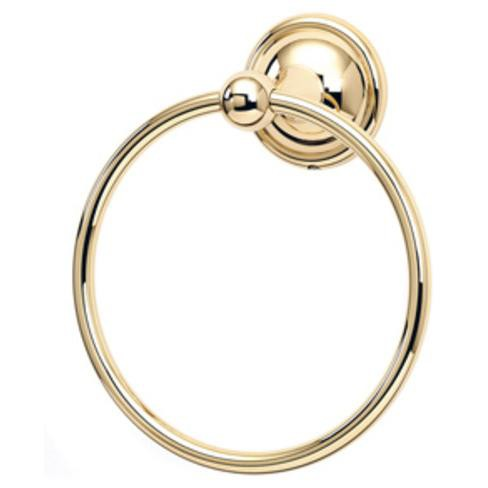 Alno A9240 Yale Series 6 Diameter Towel Ring Unlacquered Brass Target
