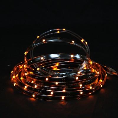 Northlight 18' Orange LED Outdoor Christmas Linear Tape Lighting - Black Finish