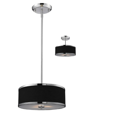 Convertible Pendant Ceiling Lights with Black Glass (Set of 2) - Z-Lite - image 1 of 1