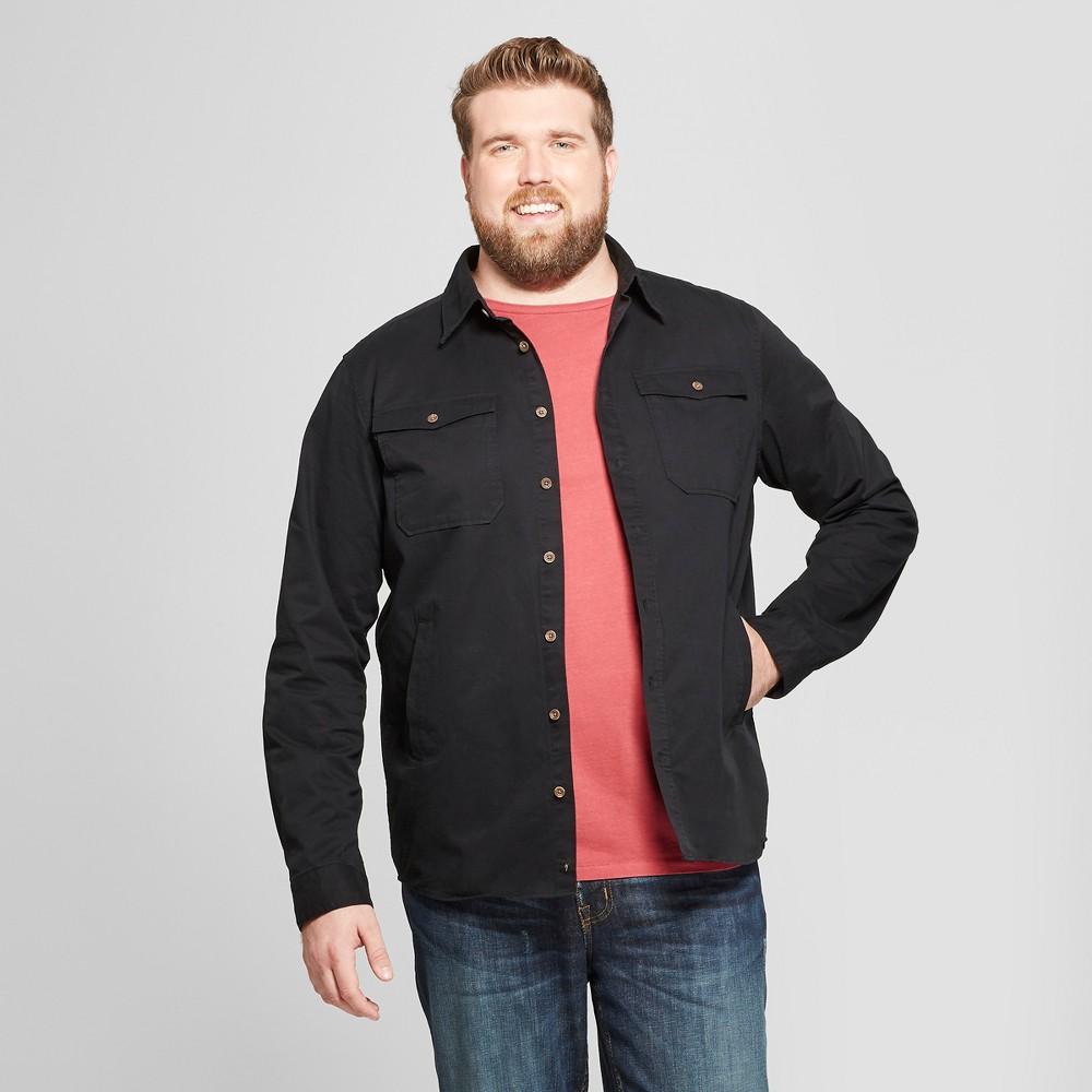 Men's Big & Tall Standard Fit Long Sleeve Fashion Jacket - Goodfellow & Co Black 4XB