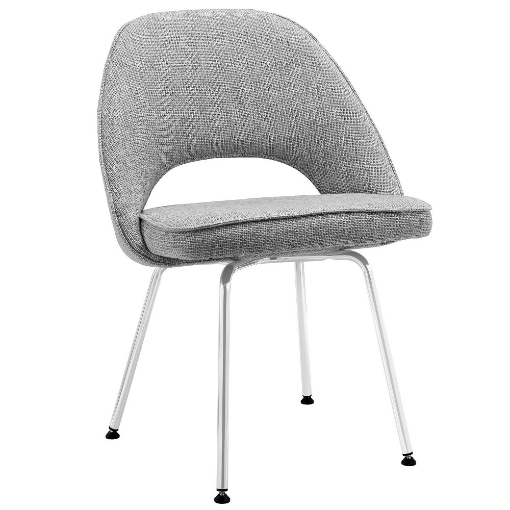 Cordelia Dining Fabric Side Chair Light Gray - Modway