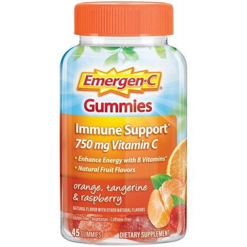 Emergen-C Immune Support Gummies - Orange, Tangerine & Raspberry - 45ct - image 1 of 4