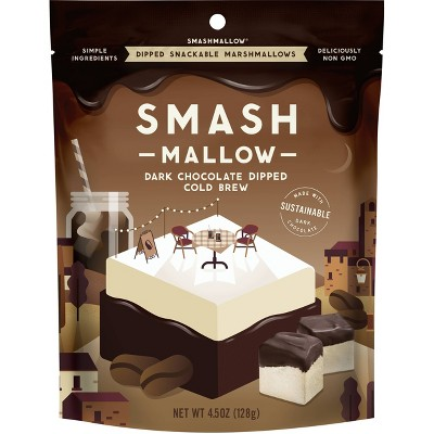 SmashMallow Dipped Cold Brew Snackable Marshmallow - 4.5oz
