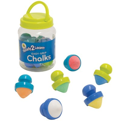 Ready 2 Learn Easy Grip Chalk - 6 Colors - 18m+ - Non-Toxic Toddler Sidewalk Chalk - Easiest to Hold - Refills Available (CE6913)