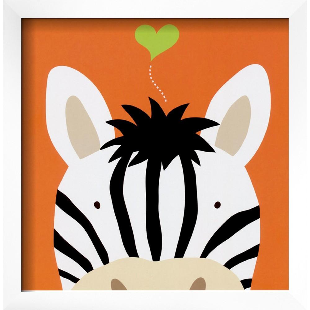 Art.com - Peek-a-Boo Zebra Framed Print