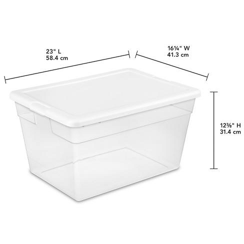 sterilite 56 qt clear storage box white lid target