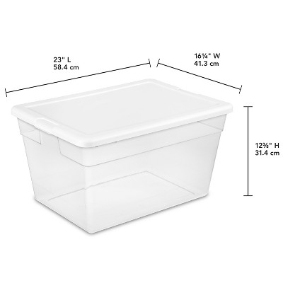 Superieur Sterilite 56 Qt Clear Storage Box White Lid : Target