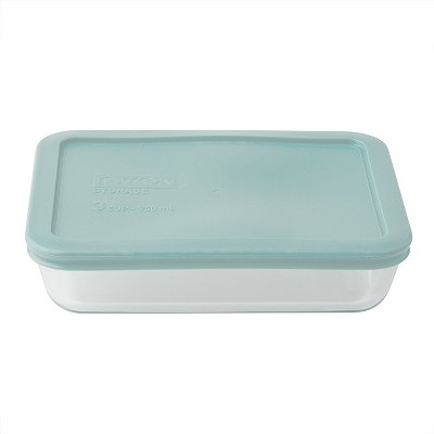 Pyrex Rectangle Storage 3 Cup Sea Green
