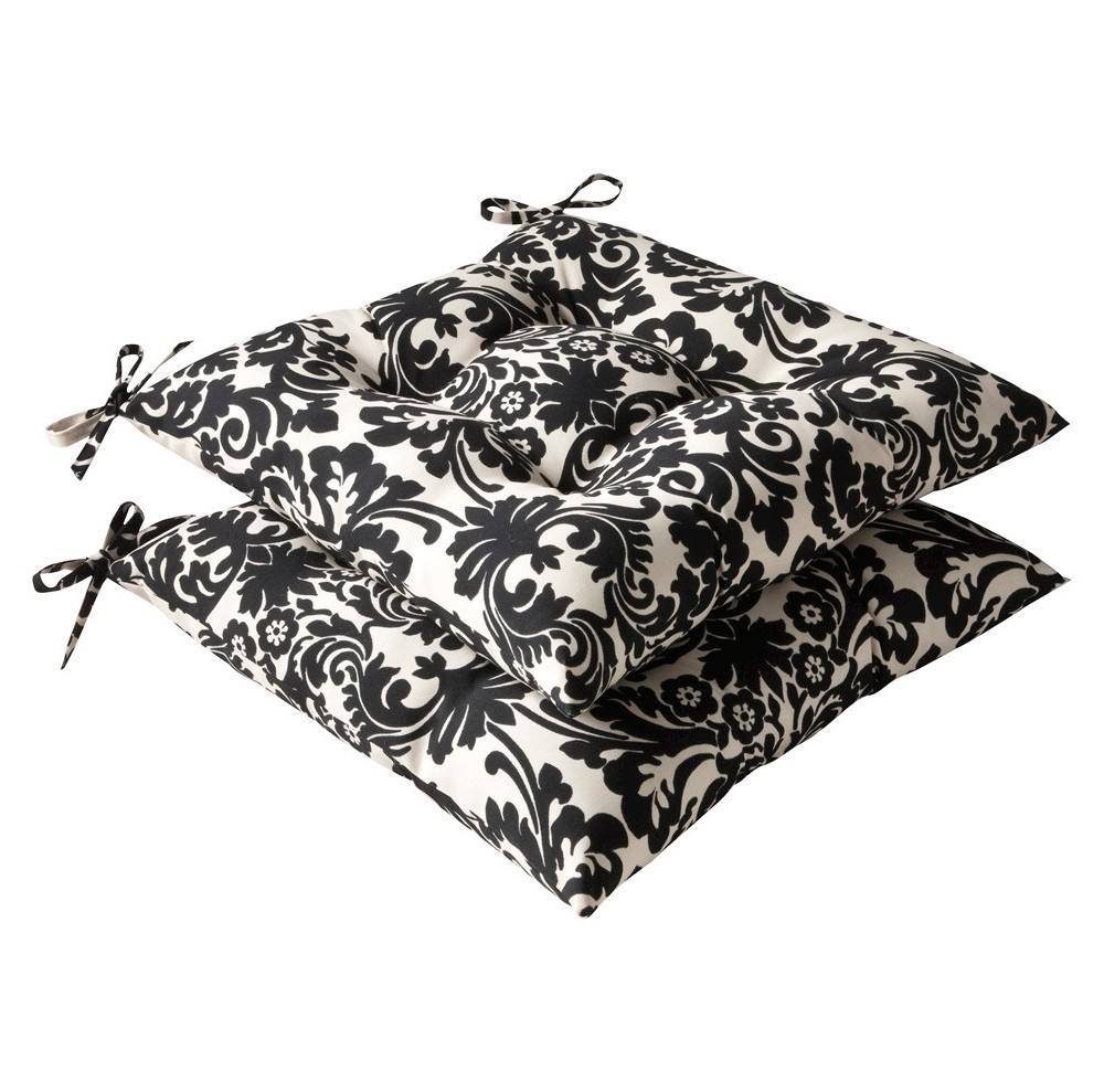 Pillow Perfect 2-Piece Outdoor Tufted Seat Pad/Dining/Bis...