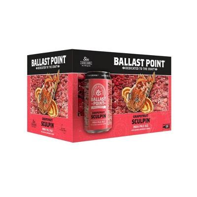 Ballast Point Grapefruit Sculpin IPA Beer - 6pk/12 fl oz Cans