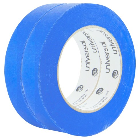 Universal® Premium Blue Masking Tape with Bloc-it Technology, 24mm x 54.8m, Blue, 2pk - image 1 of 2