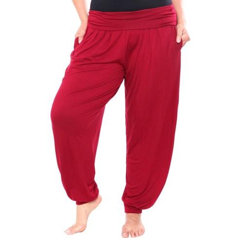 Women's Plus Size Harem Pants - White Mark - image 1 of 3