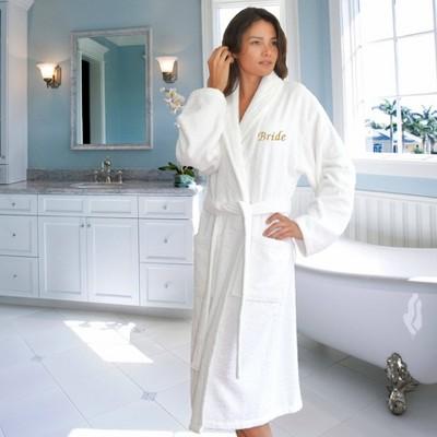Bride Bathrobe L/XL White - Linum Home textiles