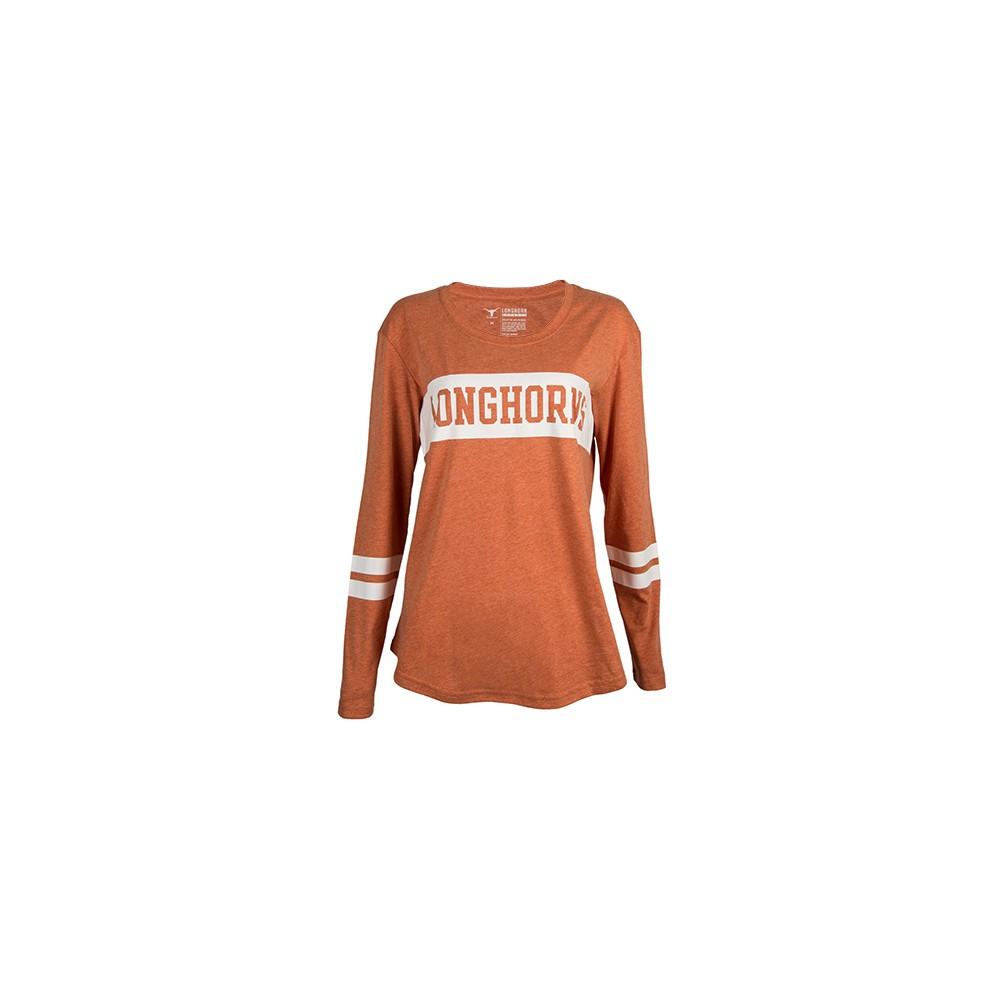 NCAA Texas Longhorns Women's Burks Long Sleeve T-Shirt - XL, Multicolored
