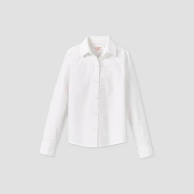 Toddler Girls' Stretch Long Sleeve Uniform Woven Blouse - Cat & Jack™ White