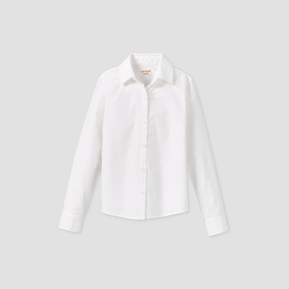 Toddler Girls 39 Stretch Long Sleeve Uniform Woven Blouse Cat 38 Jack 8482 White 4t