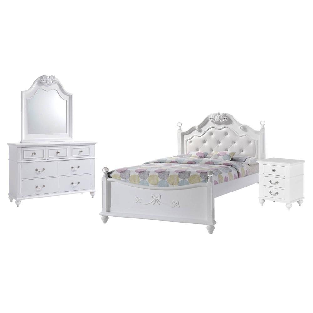4pc Full Annie Platform Bedroom Set White - Picket House Furnishings