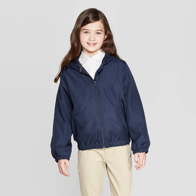 Girls' Uniform Windbreaker Jacket   Cat & Jack Navy by Cat & Jack Navy
