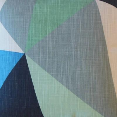 Colorblock Square Throw Pillow Navy - Pillow Collection : Target
