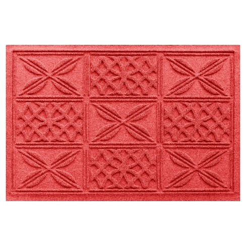Solid Red Solid Pressed Doormat - (2'X3') - Bungalow Flooring - image 1 of 2
