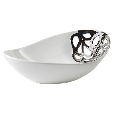 10 Strawberry Street Zara 12  Canoe Bowl - Silver