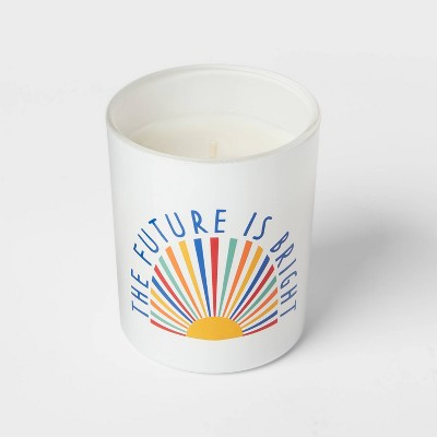 5oz Glass Jar The Future Is Bright Candle - Room Essentials™