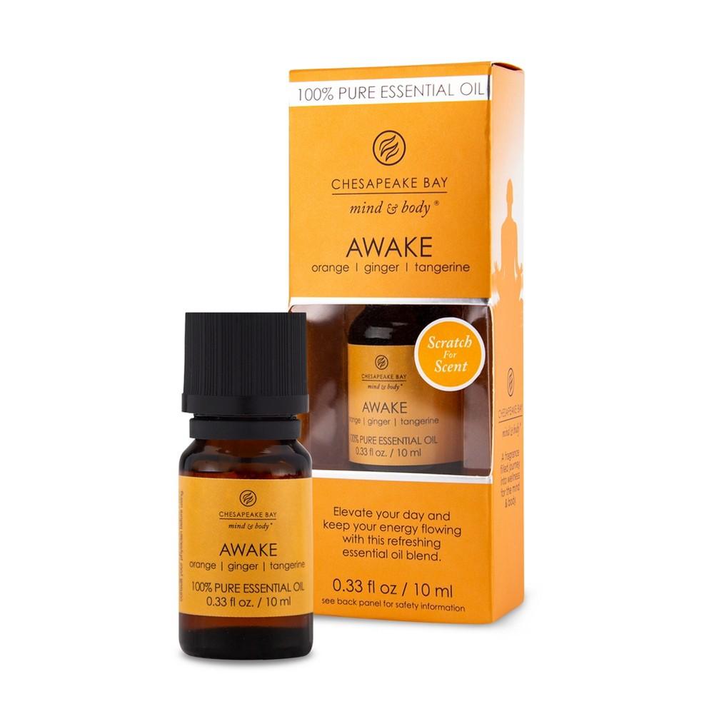 Image of 0.33oz Essential Oil Awake Orange/Ginger/Tangerine - Chesapeake Bay Candle, Green