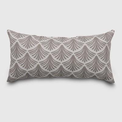 Lumbar Fan Outdoor Pillow Taupe - Threshold™