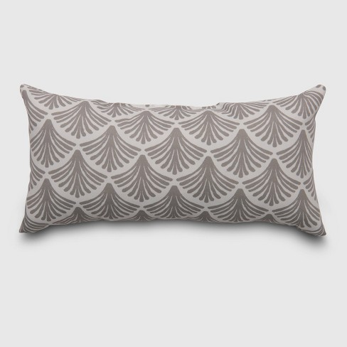 Lumbar Fan Outdoor Pillow Taupe - Threshold™ - image 1 of 1