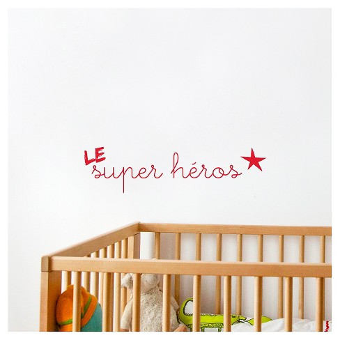 La/Le Super Héros Wall Decal - Red - image 1 of 1