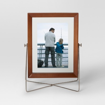 Easel Single Image Frame 5x7 - Wood/Silver - Project 62™