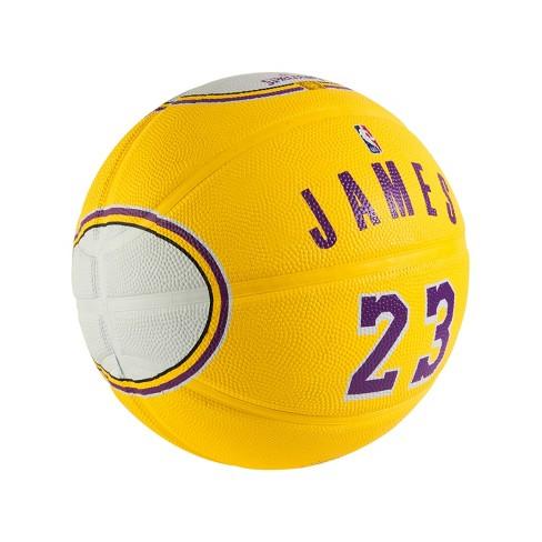 5af9bdff78fe2 NBA Los Angeles Lakers Lebron James Gold Basketball - 7. Shop all Spalding
