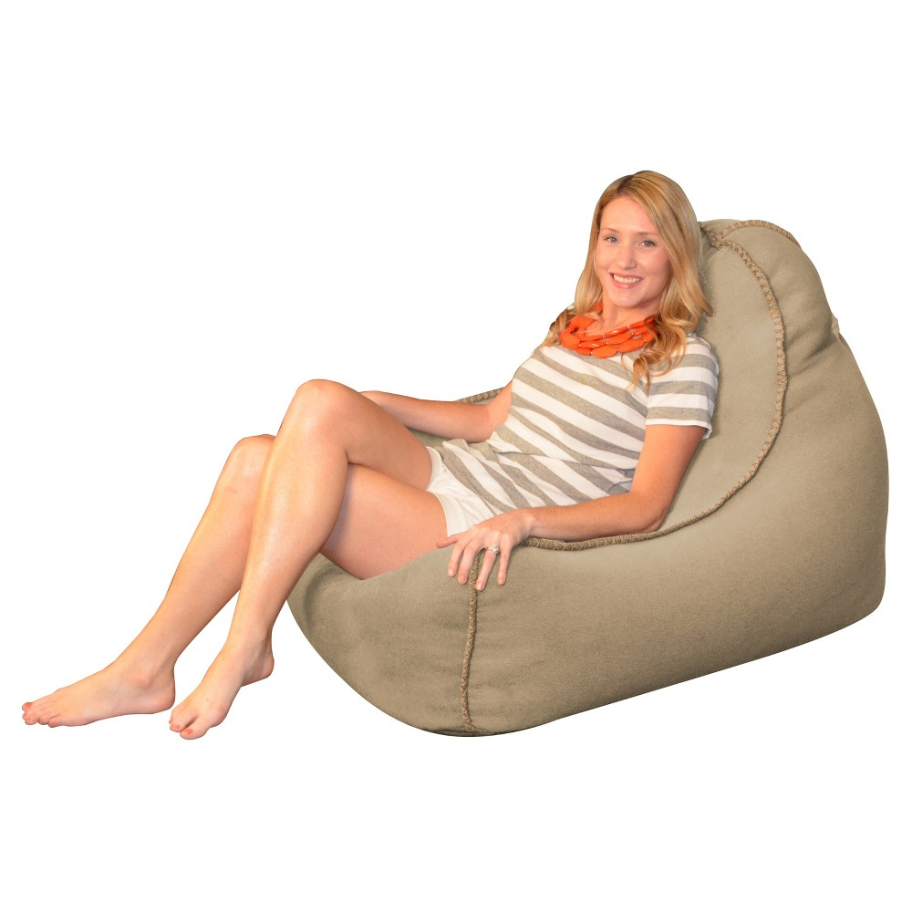 Laguna Lounger Bean Bag Chair - Taupe (Brown) - Relax Sacks