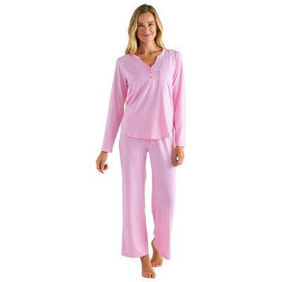 Softies Women's Double Patch Pocket Raglan Ankle PJ Set