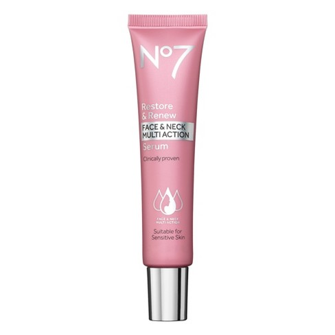 No7 Restore & Renew Face & Neck Multi Action Serum - 1oz - image 1 of 3