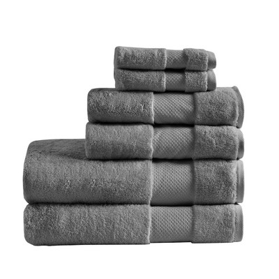 Turkish Cotton Bath Towel Set Gray