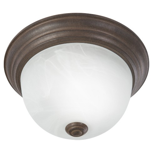 Yosemite One Light Flush Mount Dark Brown - image 1 of 4