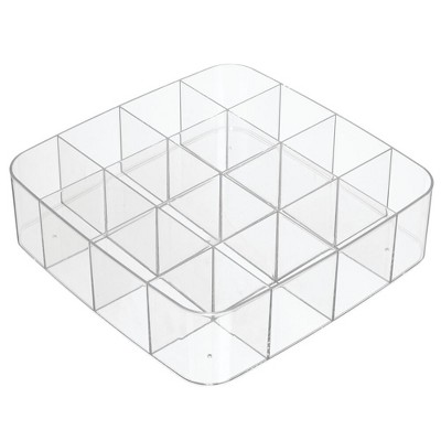 mDesign Stackable Plastic Storage Bin for Art and Craft Supplies - Clear, 2 Pack