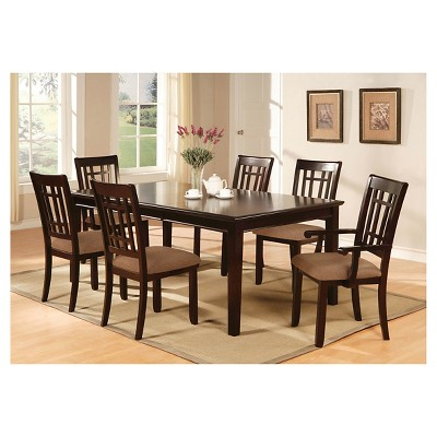 Delicieux IoHomes 7pc Simple Dining Table Set Wood/Dark Cherry : Target