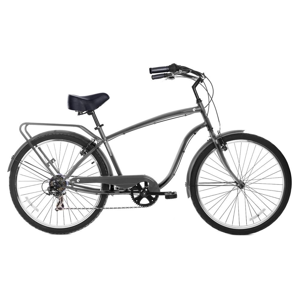 Gama Bikes Men's Cruiser 26 7-Speed Urban Hybrid Commuter - Mate, Multi-Colored