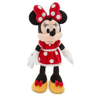 Disney Mickey Mouse & Friends Minnie Mouse Medium 18'' Plush - Red - Disney store