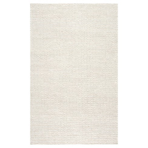 Wool Hand Woven Chunky Woolen Cable Rug - nuLOOM - image 1 of 4