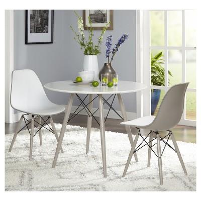 3 Piece Elba Dining Set   White   Gray   Target Marketing Systems