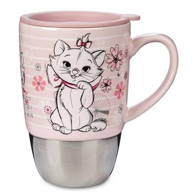 Disney Marie 16oz Ceramic Travel Mug Pink - Disney Store